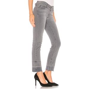 Black Orchid Bardot Straight Fray Jeans Ghost Town
